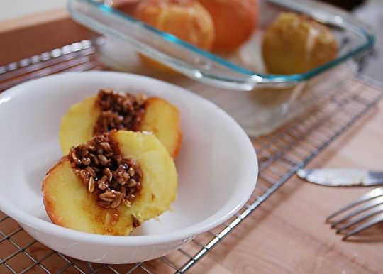 Oatmeal-Brown Sugar Baked Apples | Recipe
