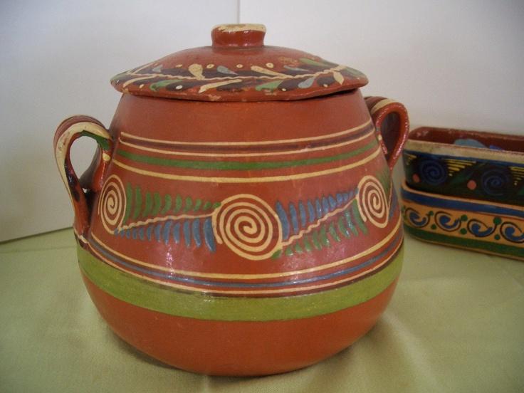 Vintage Mexican Pottery Bowl & Lid Tlaquepaque. $28.00, via Etsy.