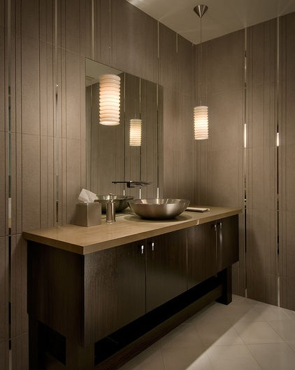 Popular What about pendant lights instead of sconces to add facial light in bathroom