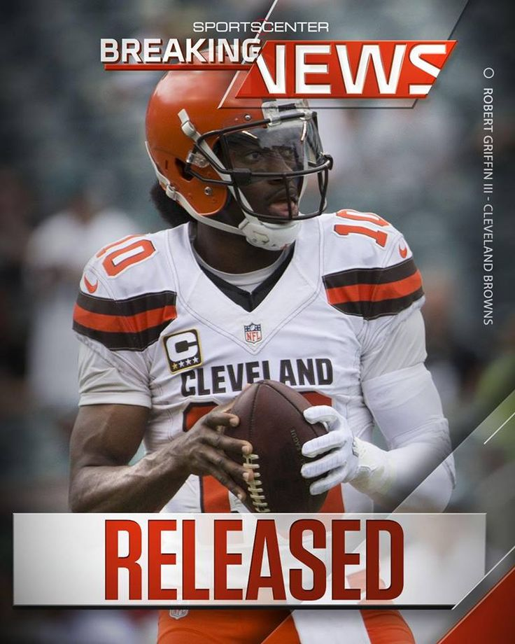 Breaking: The Cleveland Browns will release Robert Griffin III today, per Josina Anderson.