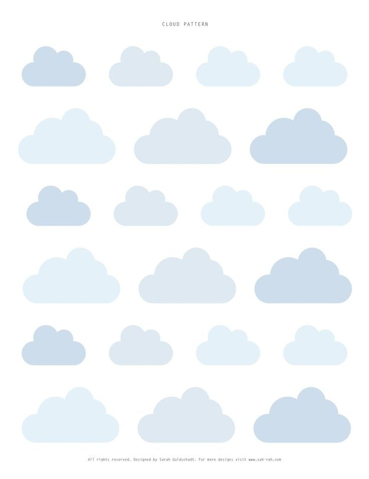 sweet cloud printable cake toppers or tags (or whatever you are creative enough to use them for!)