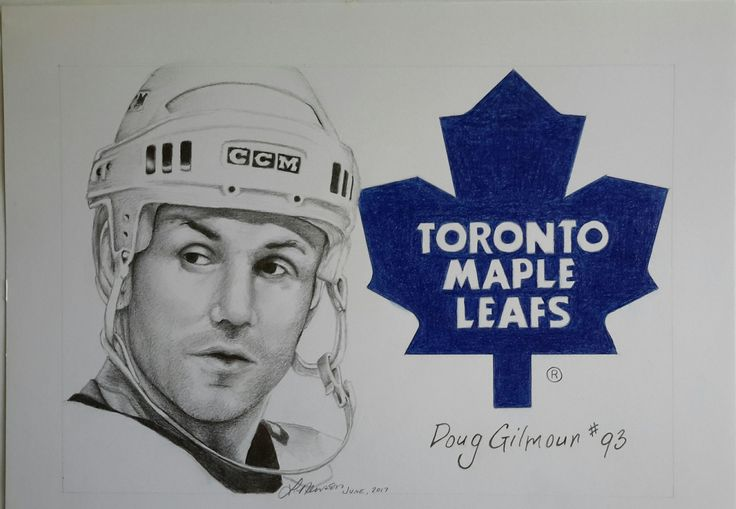 """""""Just finished this one for a huge @MapleLeafs fan. Hope he likes it. How about you @DougGilmour93, @NHL ?#Leafs #hockey"""""""