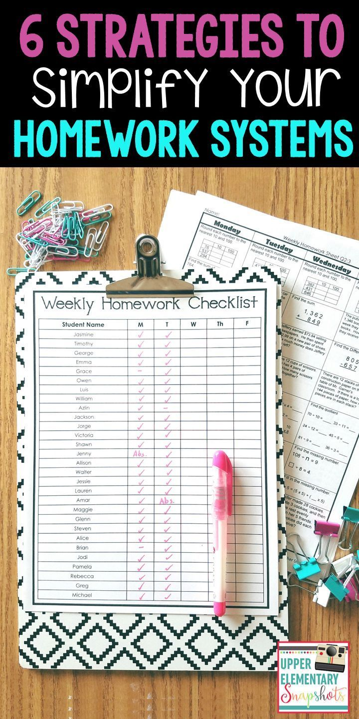 Is homework stressing you out? Here are my top 6 strategies for simplifying your homework systems.