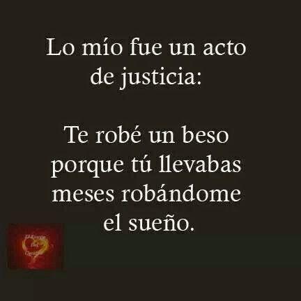 """Quienlodira Creaciones: Sentimientos By Quienlodira """"Lo mío fue un acto de  justicia:  Te robé un beso  porque tú llevabas  meses robándome  el sueño.""""  ;))))))  Un kiss"""