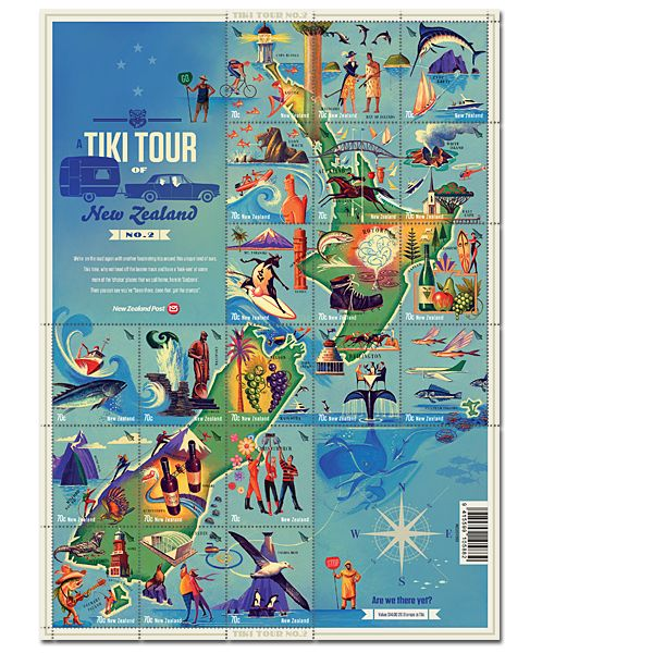 A Tiki Tour of New Zealand No.2 | New Zealand Post Stamps