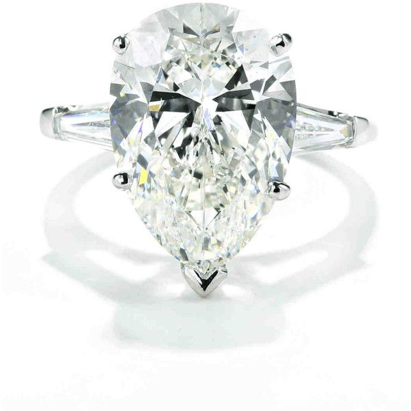 Pear Cut Diamond Engagement Rings ❤ Liked On Polyvore Featuring Jewelry,  Rings, Teardrop