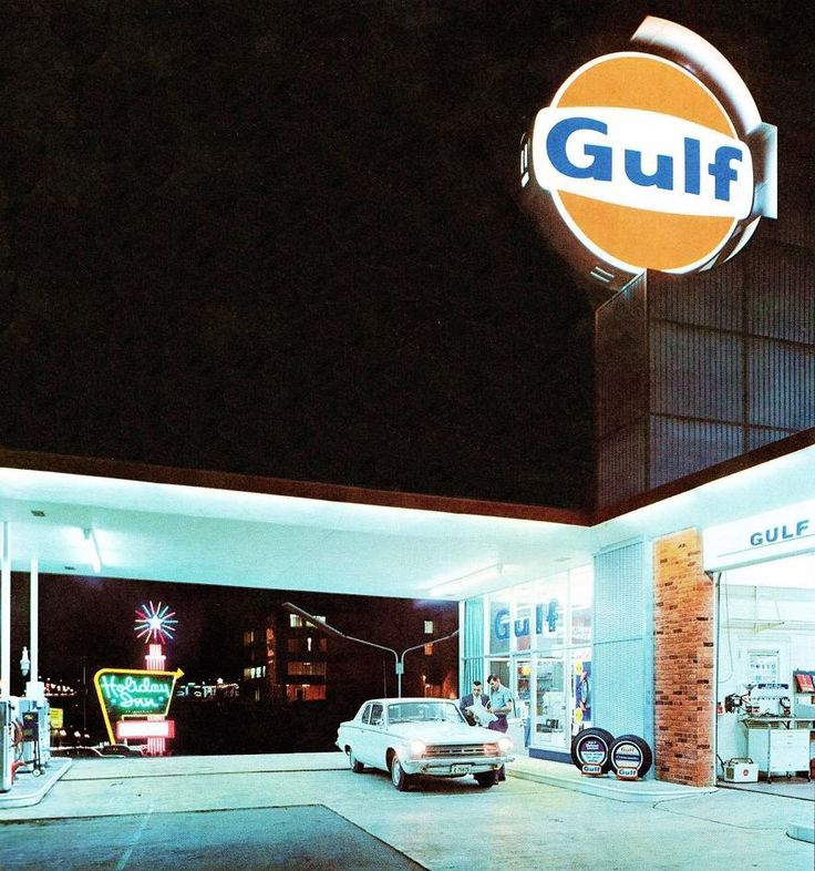 Gulf Gas Station Holiday Inn Memphis 1966 Old Gas