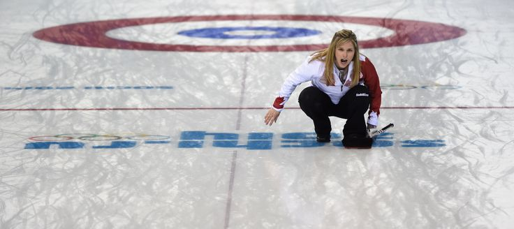 Jennifer Jones of Canada reacts during Curling Women's Round Robin match between USA and Canada (c) Getty Images