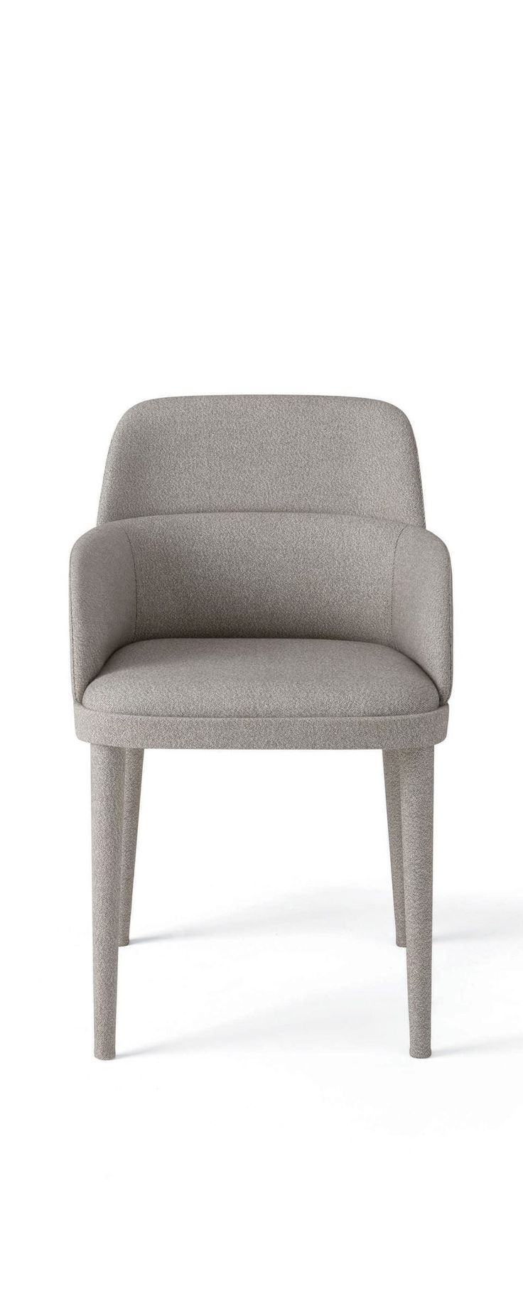 Jackie, upholstered armchair covered with fabric or suede. Designed by Stefano Bigi for Gallotti&Radice.