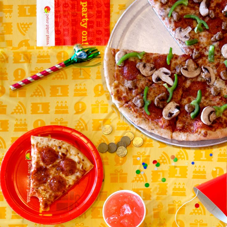 We know many parents attend birthday parties. Peter Piper Pizza takes care of them too. Customize your party by adding specialty pizzas, wings, salads or even an adult beverage. Parents, let's party!