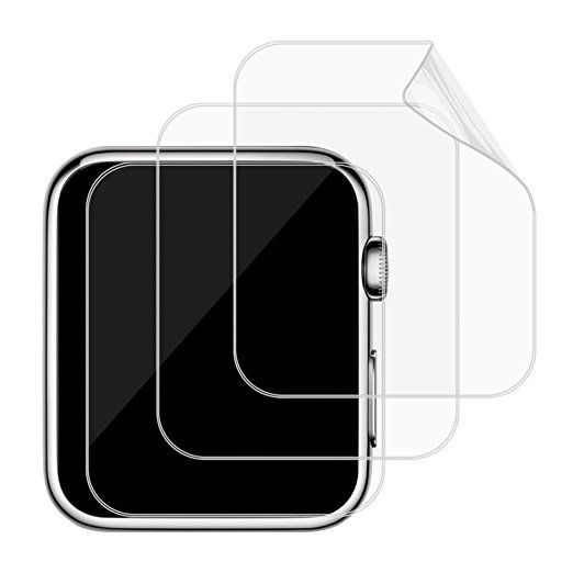 Apple Watch Screen Protector, [Full Coverage], JETech SOFTOUGH 3-Pack 42mm TPE Film for Apple Watch 42mm Serial 1/2 - 0870B