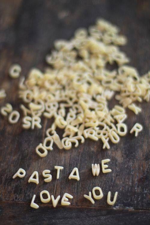 boodschap in pastaletters