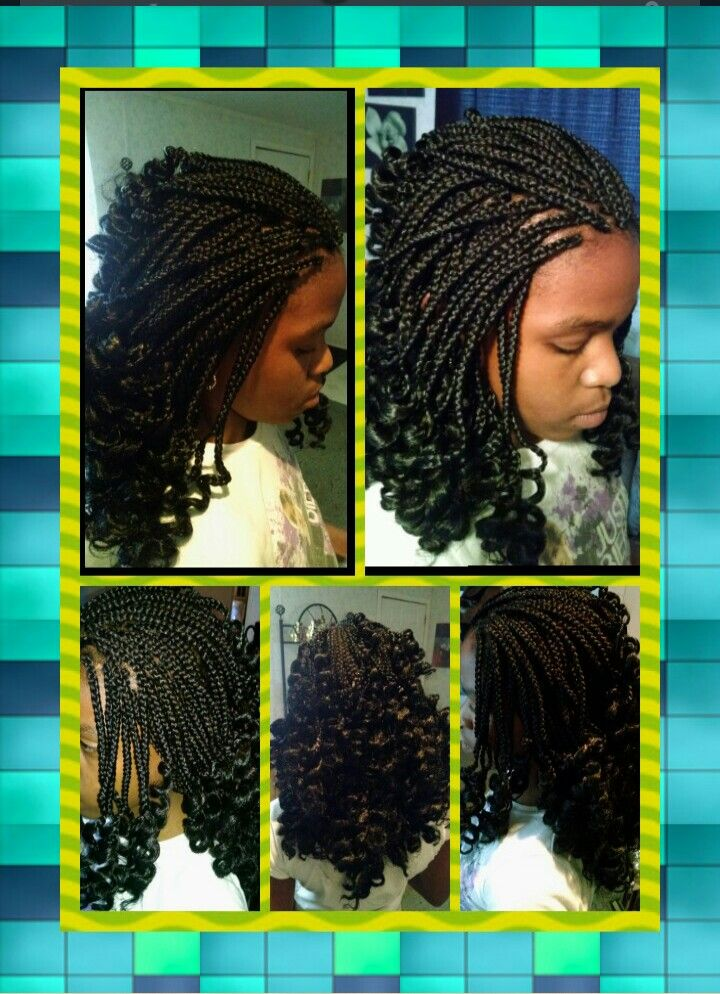 Kid S Style Small Box Braids W Curled Ends Projects