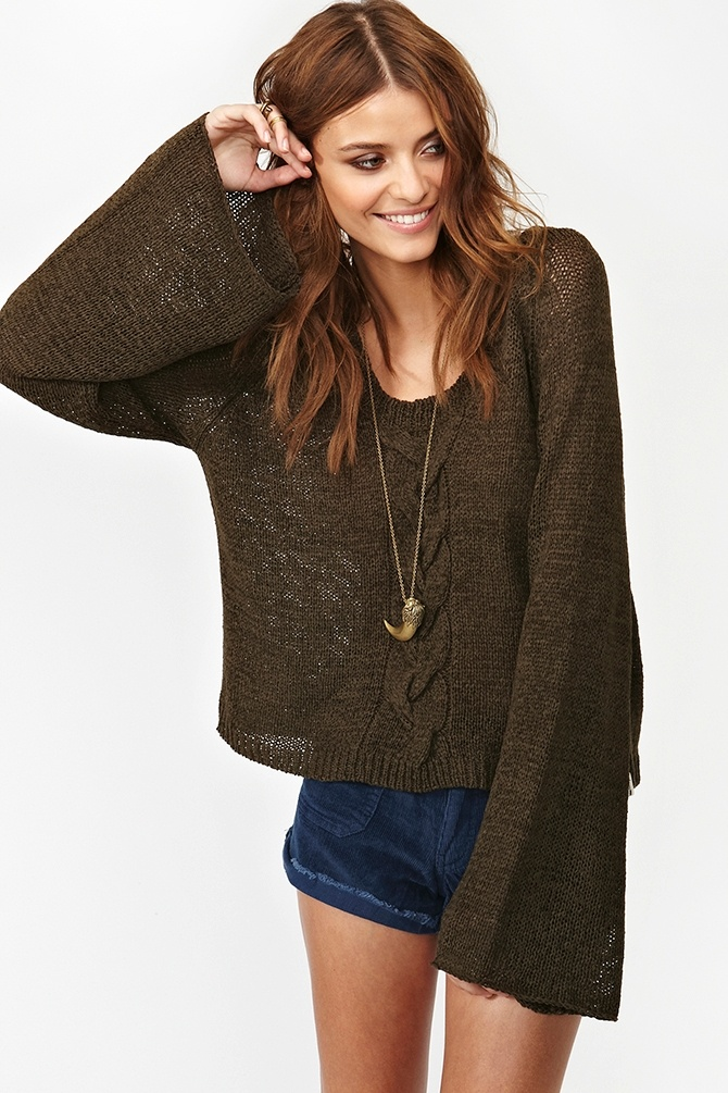Euphoria Knit: Casual Style, Awesome Sweater, Euphoria Knit, Sleeve Knits, 128 Euphoria, Fall Sweaters, Bell Sleeved Sweater, Comfy Sweater, Chunky Knits