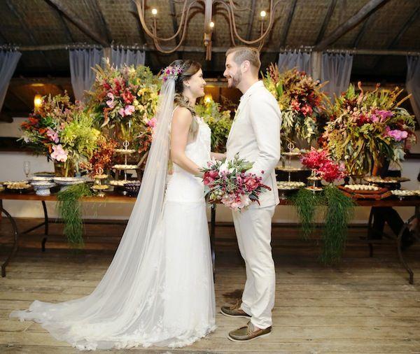 Casamento na Praia   Larissa + Millôr   Vestida de Noiva   Blog de Casamento por Fernanda Floret