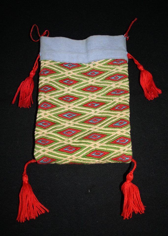 Pierwsza jałmużniczka, haftowana ręcznie, podszewka len, nici bawełna