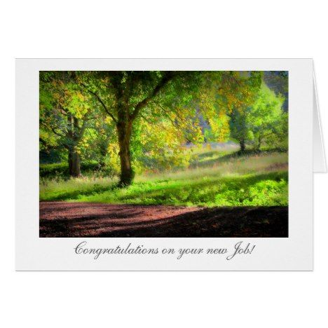 Start of Autumn / Fall - Congrats on New Job Card - click/tap to personalize and buy