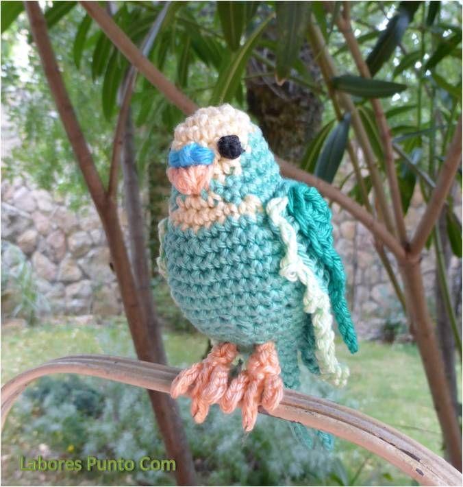 Periquito de ganchillo crochet parakeet labores punto - Labores de punto de media ...