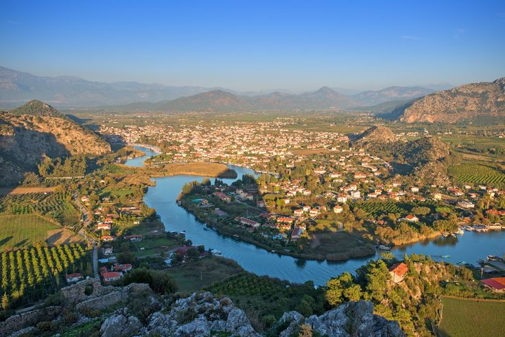 Good evening from #Dalyan where Caretta caretta turtle became a symbol of the town.