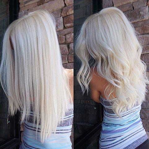 Balayage White Blonde Hair
