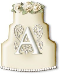 Elegant White Wedding Cake Hand Decorated Sugar Cookie  Favor -  $8.50 - Minimum 6 Cookies