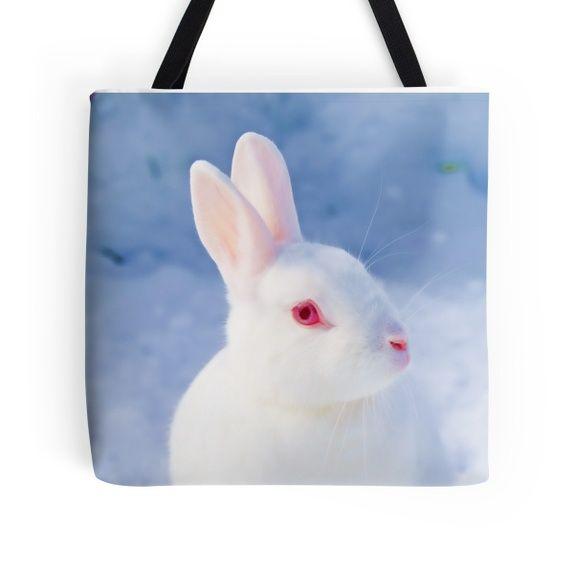 """Liten skulderveske """"Hvit kanin"""""""