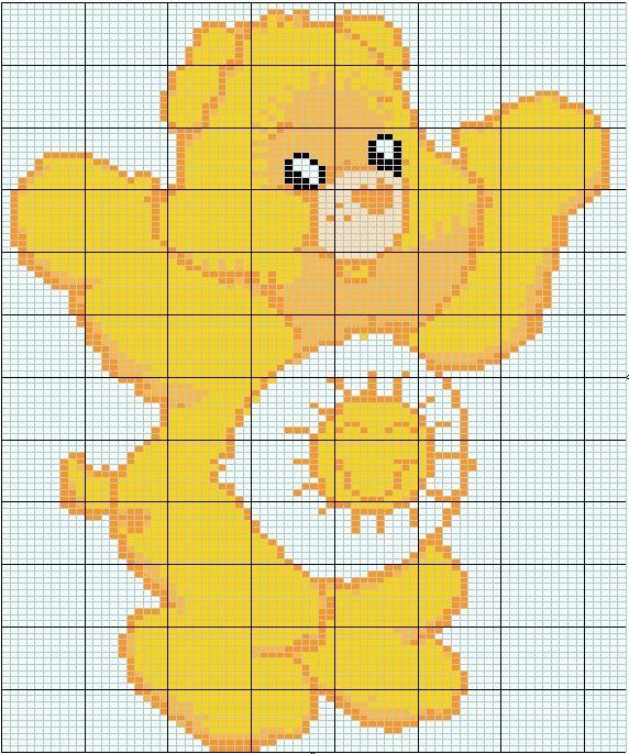 Care Bear hama perler pattern