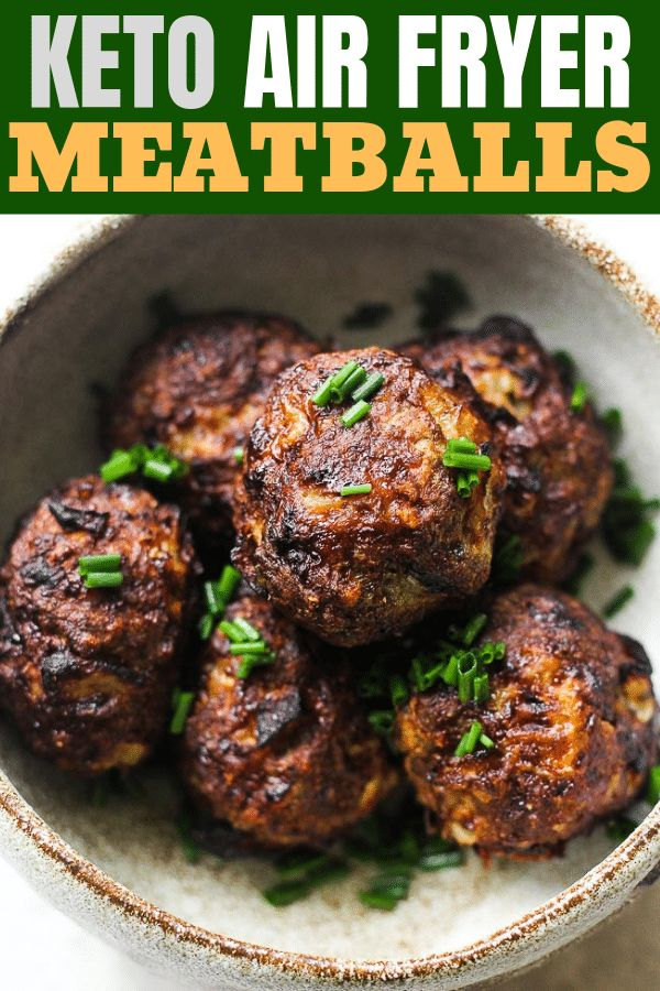 Juicy Healthy Ground Beef Air Fryer Meatballs Use Them As