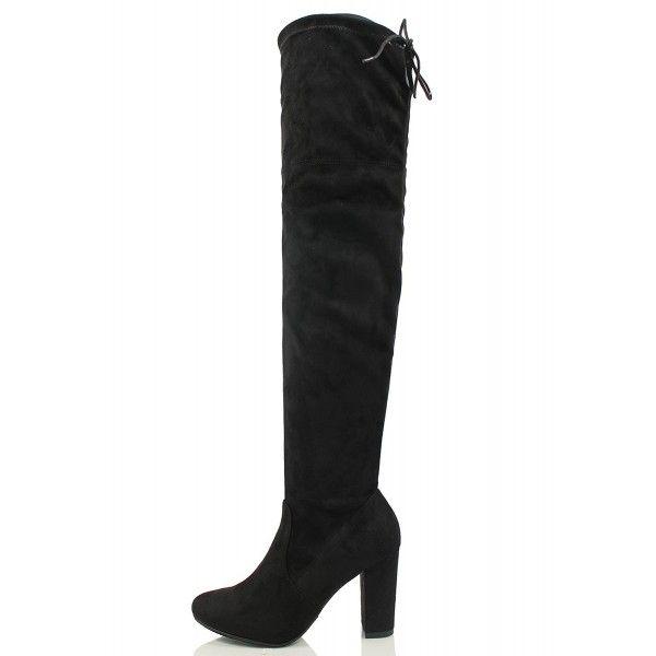 134b190a1 Delicious Women's Back Tie Over The Knee High Heel Dress Boot - Black -  CR187K7RMXX - Women's Shoes, Boots, Over-the-Knee #OvertheKnee #Women's  #Shoes ...