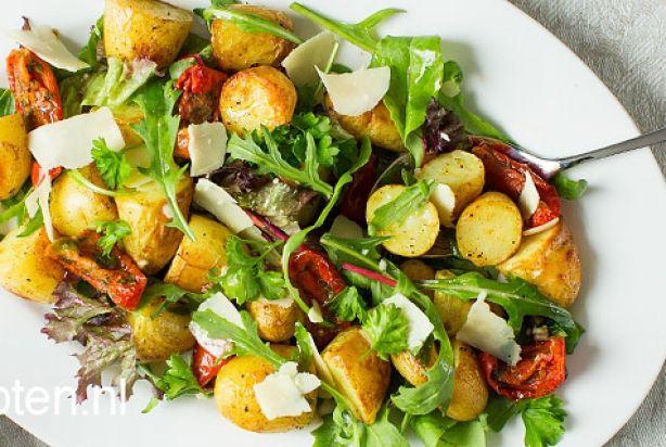 Geroosterde aardappelsalade