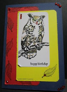 BaRb'n'ShEll Creations - Owl Card - made by Shell
