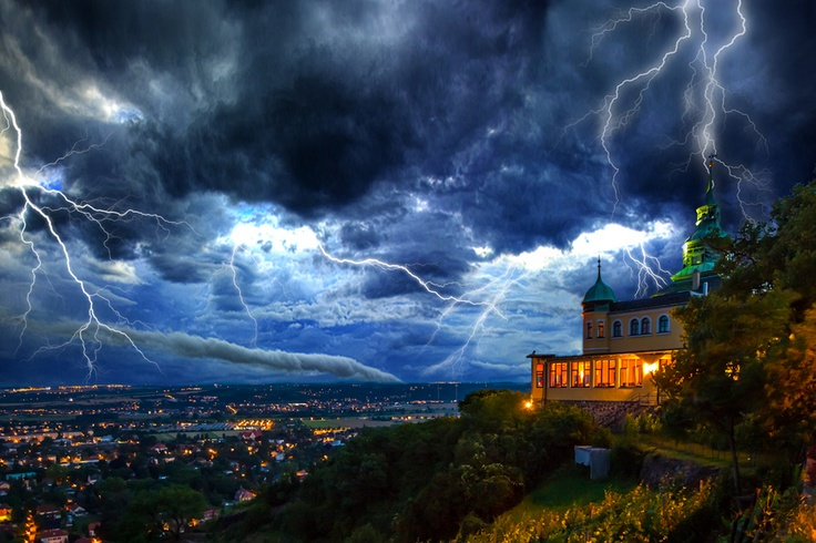 """Extreme Weather. """"Storm at Radebeul"""" - Kenny Scholz. Dresden, Germany."""