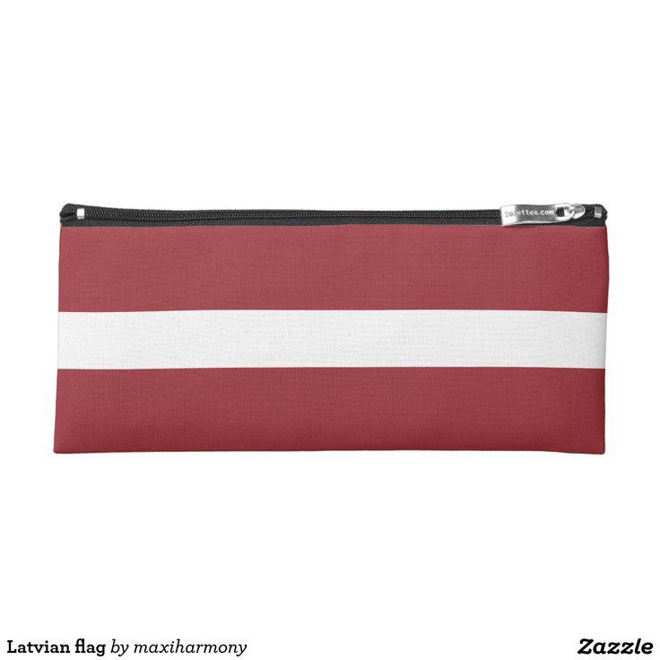 Latvian flag pencil case