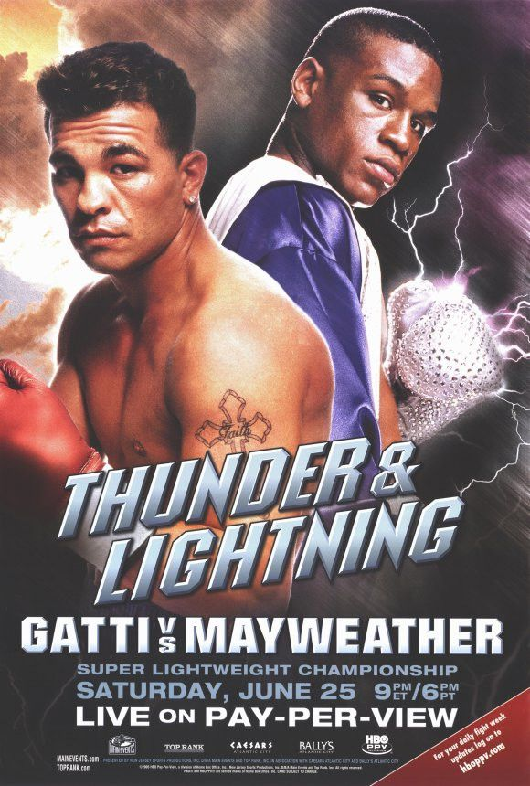 """CAST: Arturo Gatti, Floyd Mayweather; Features: - 11"""" x 17"""" - Packaged with care - ships in sturdy reinforced packing material - Made in the USA SHIPS IN 1-3 DAYS"""