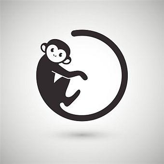 Cute monkey , New Year 2016