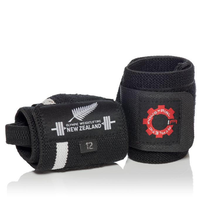 """12"""" Wrist Wrap - Thumb Loop/OWNZ. Industrial Athletic is Proudly, the official equipment provider to Olympic Weightlifting New Zealand (OWNZ)."""