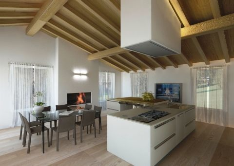 Ristrutturazione appartamento in dimora storica - Rendering cucina - Maria Teresa Azzola Designer - Nembro (BG) 2011-2012