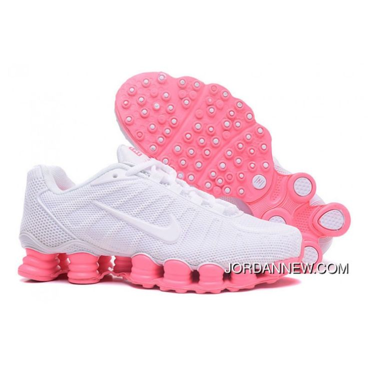 2017 Latest Nike Air Shox TLX Womens Basketball Shoes White Pink Online Store For Cheap Best