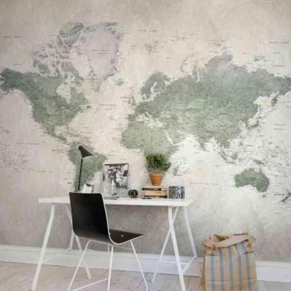 Le poster carte du monde géante vous donne envie à voyager