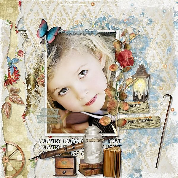 Country House by Kitty Scrap Template by Dawn Inskip Studio Photo by Anarud