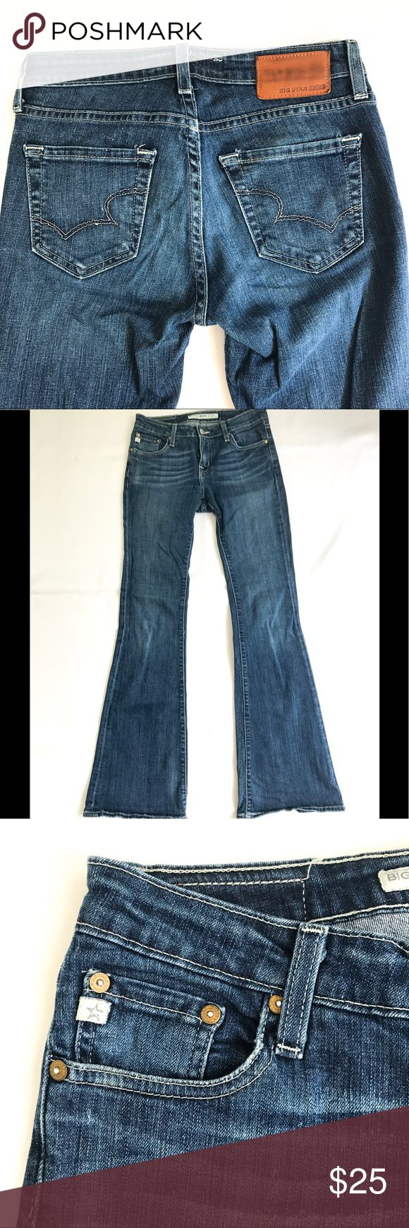 Big Star jeans Big Star bootcut jeans. Size 27L. Slightly frayed on the back heels as seen in pics. Big Star Jeans Boot Cut