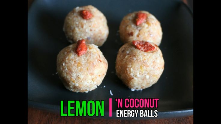 LEMON COCONUT ENERGY BALLS Happy Happy Saturday everyone from super hot and humid Dubai ! Time for a new recipe ! These babies are gluten-free, vegan, refined sugar-free and VERY YUMMY. You can't stop eating them ! (and why would you ?) Energy balls are great for lunchboxes - or as snacks for a mid-morning energy boost. Roll some up today, and pop them in the fridge – they will last for 2-3 weeks !