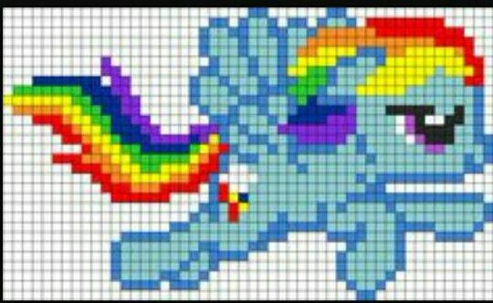 Rainbow Dash Flying C2c Graphgan Pattern Crochet Graph