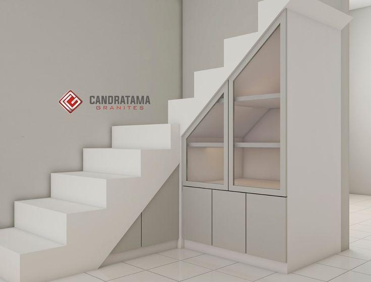 lemari bawah tangga warna netral   Interior, Desain ...
