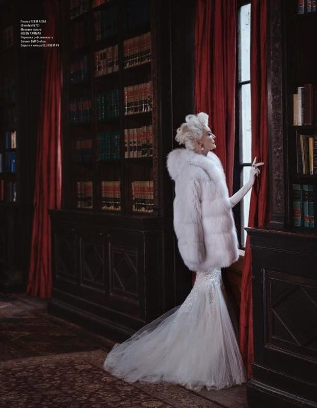 Carmen dell'Orefice для L'OFFICIEL Azerbaijan February 2015