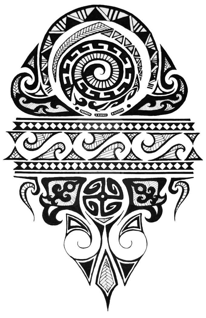 Desenho de Tatuagem Maori. - Tatuagem Tattoo