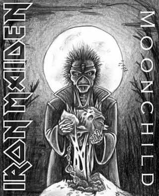 """Moonchild - Iron Maiden. Moonchild es el primer track del séptimo disco en estudio de la banda británica Iron Maiden, """"Seventh Son of a Seventh Son"""". La canción fue grabada y editada en 1988 antes de la separación de lo que hasta ese entonces sería la alineación clásica del grupo. El tema tiene un significado desconocido, pero que hace referencias a los libros de Crowley, de hecho Moonchild (niña de la luna) dentro de la doctrina del Thelema es conocida como Babalón o la Ramera escarlata."""