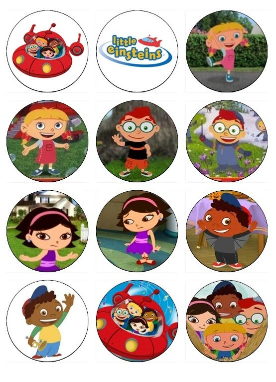 Little Einsteins Edible Cupcake Toppers 12 Little by EtsysEdibles, $6.50