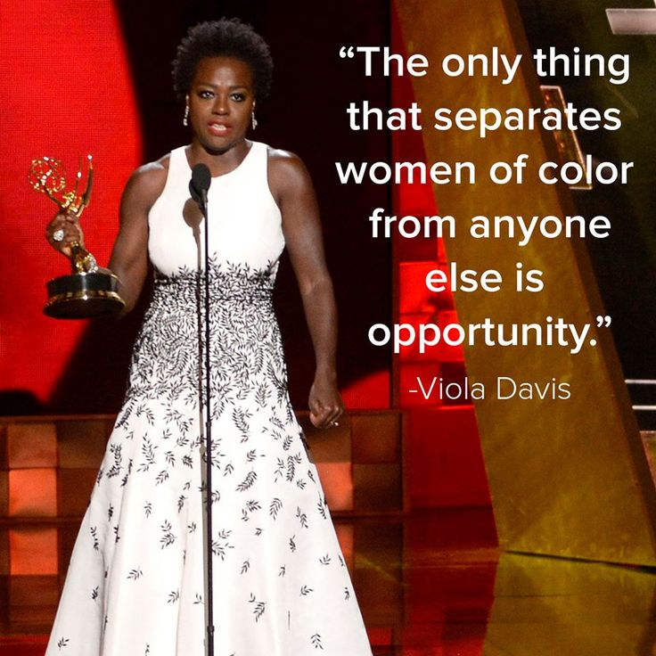 """""""The only thing that separates women of color from anyone else is opportunity"""" -#ViolaDavis #Emmys"""