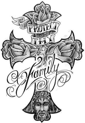 Tatoo cruz e família